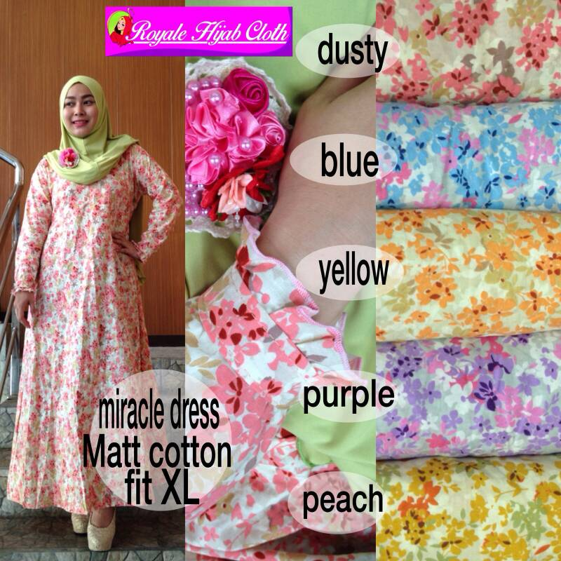 supplier baju hijab : miracle dress ori ayn / rose dress