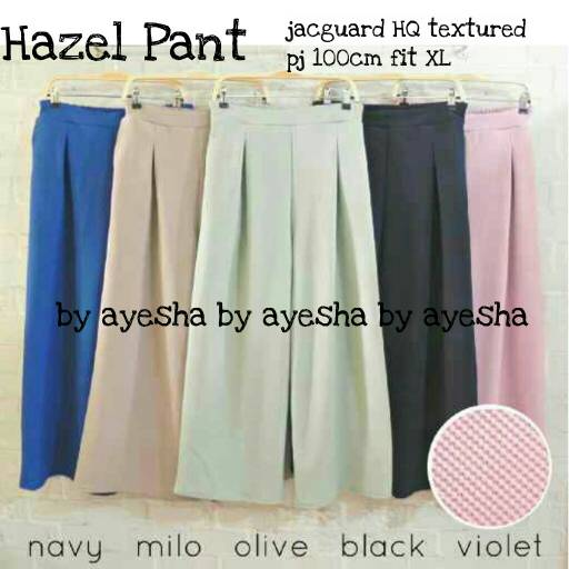 supplier baju hijab : hazel pant jaguard  / celana kulot premium