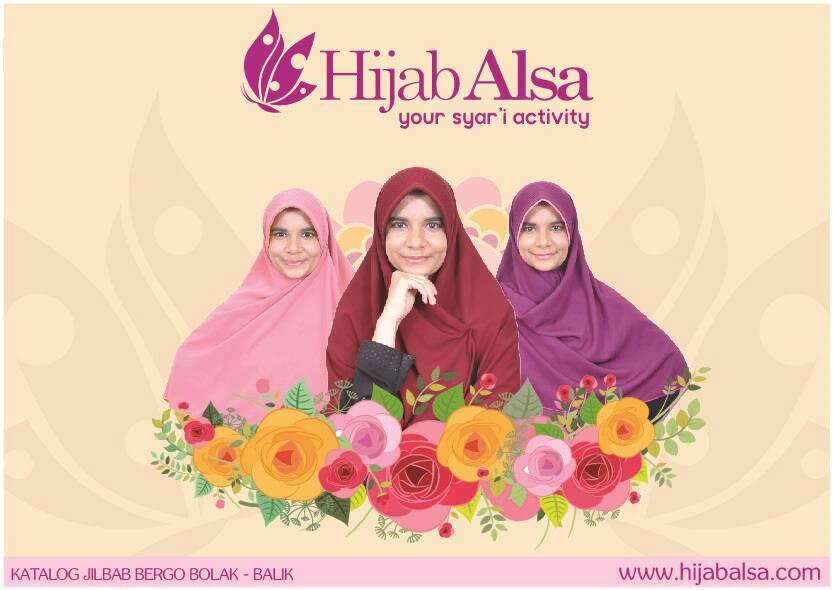 Hijab Alsa Bergo Semi Instan Bolak Balik Dua Warna Syar'i