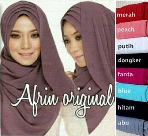 Jilbab Pasmina Instan Pastan Afrin instant Hijab pashmina Kode 3c00-61