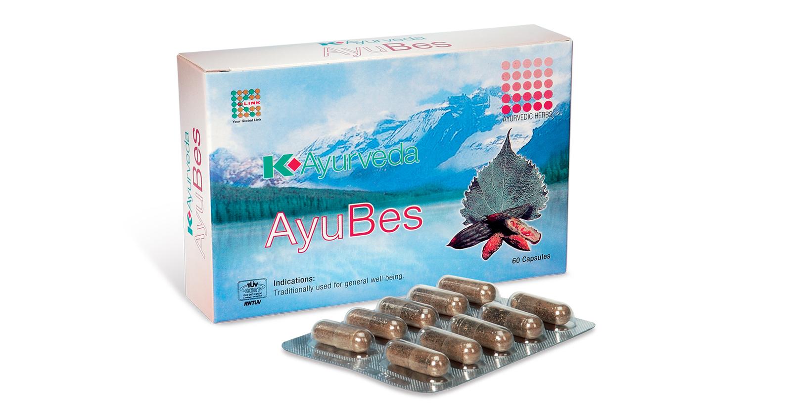 Jual Original 100 K Ayurveda Ayubes Capsule 60 Pcs Ayyub Makmur