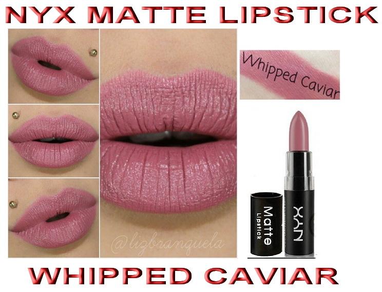 Nyx matte lipstick whipped caviar