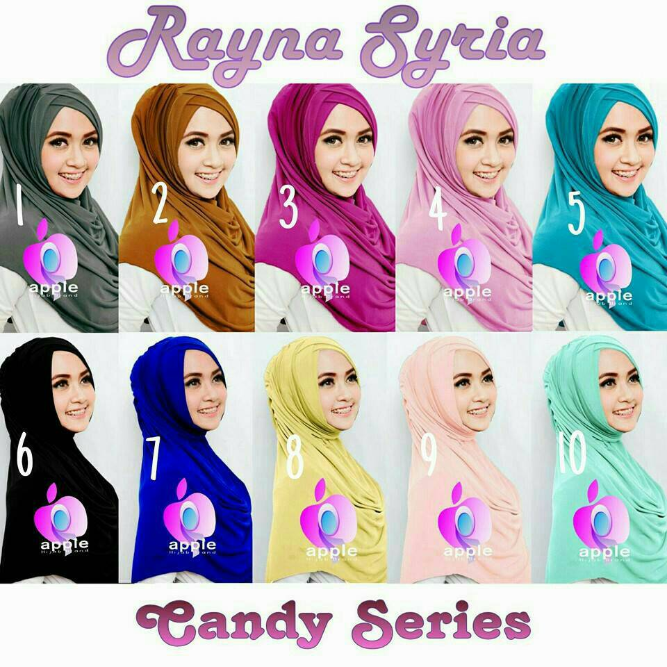 Rayna Syria Candy Series by Apple Hijab Brand