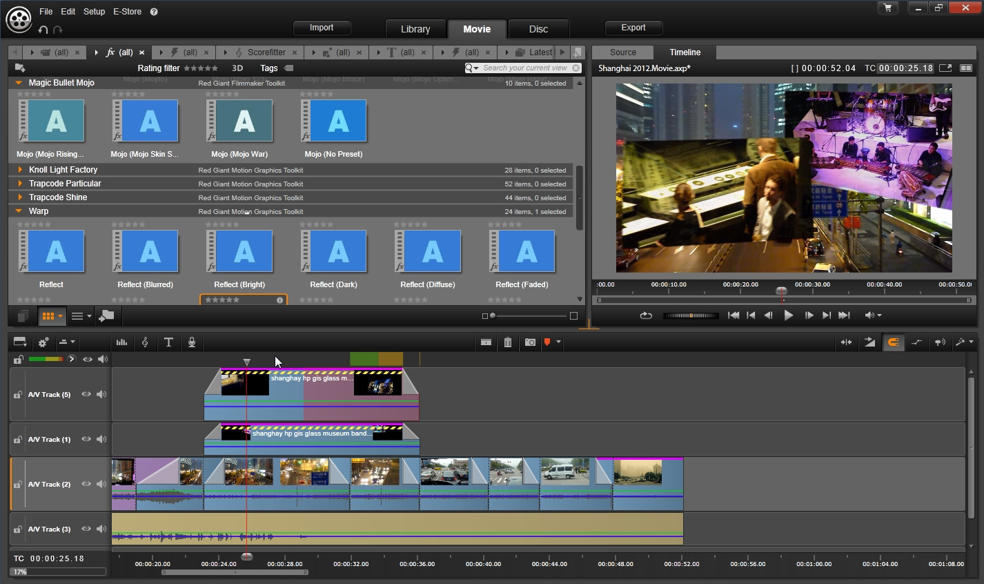 Pinnacle ultra movie software