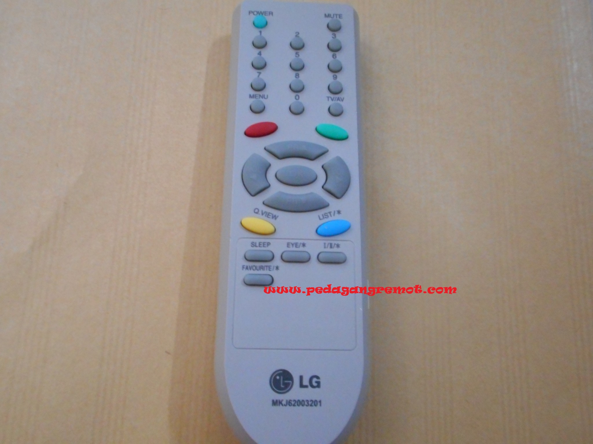 Jual Remot Remote Tv Tabung Crt Lg Original Mkj62003201 Pedagang