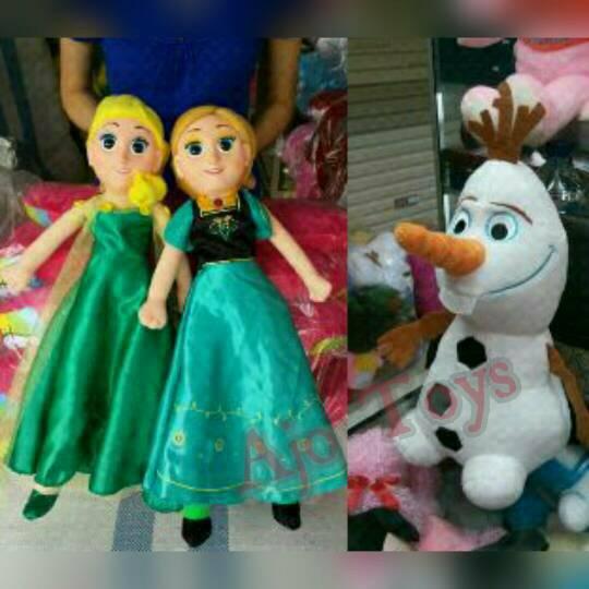 Boneka Elsa With Olaf jual set frozen elsa olaf boneka lembut dan lucu a 1c663c0651