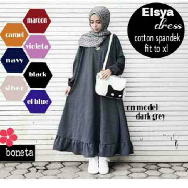 supplier bajh hijab : elsya dress / zoya dress/  gamis murah