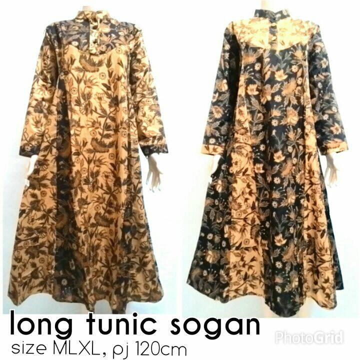 Jual Baju Muslim Batik Solo Gamis Batik Sogan Solo