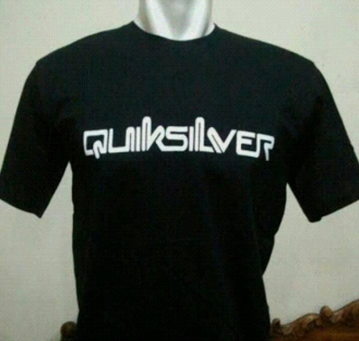 tshirt/t shirt/kaos quiksilver (black)