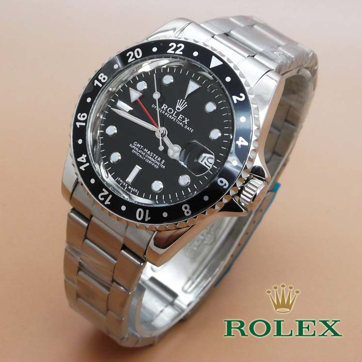 Rolex GMT Master II (Black Dial Silver)