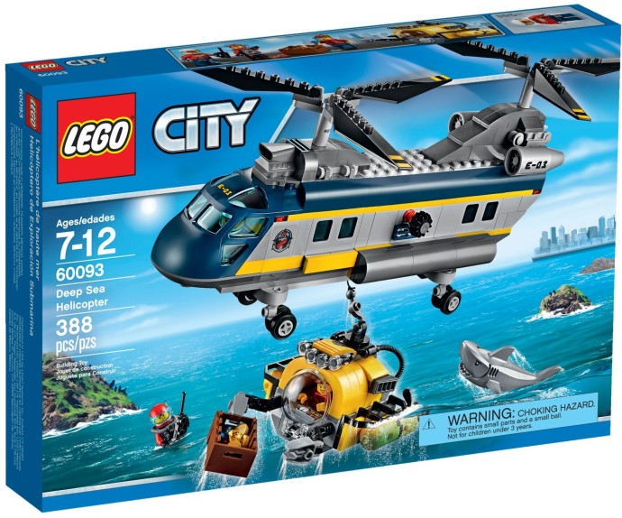LEGO # 60093 CITY DEEP SEA HELICOPTER
