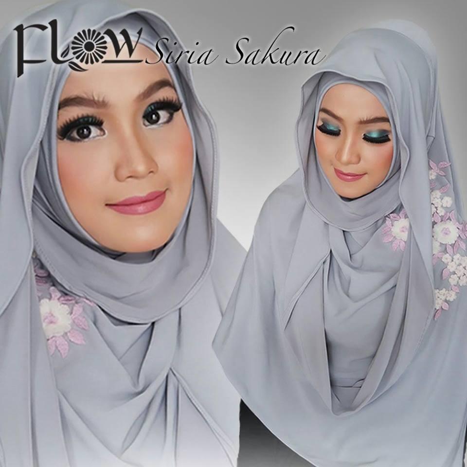 Jual Jilbab Siria Sakura By Flow Idea Riez Store Tokopedia Jilba