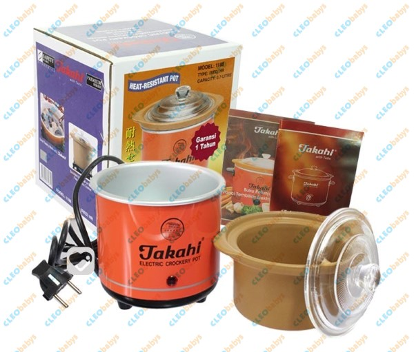 Takahi Slow Cooker 0.7lt Red SKU#69 - Blanja.com