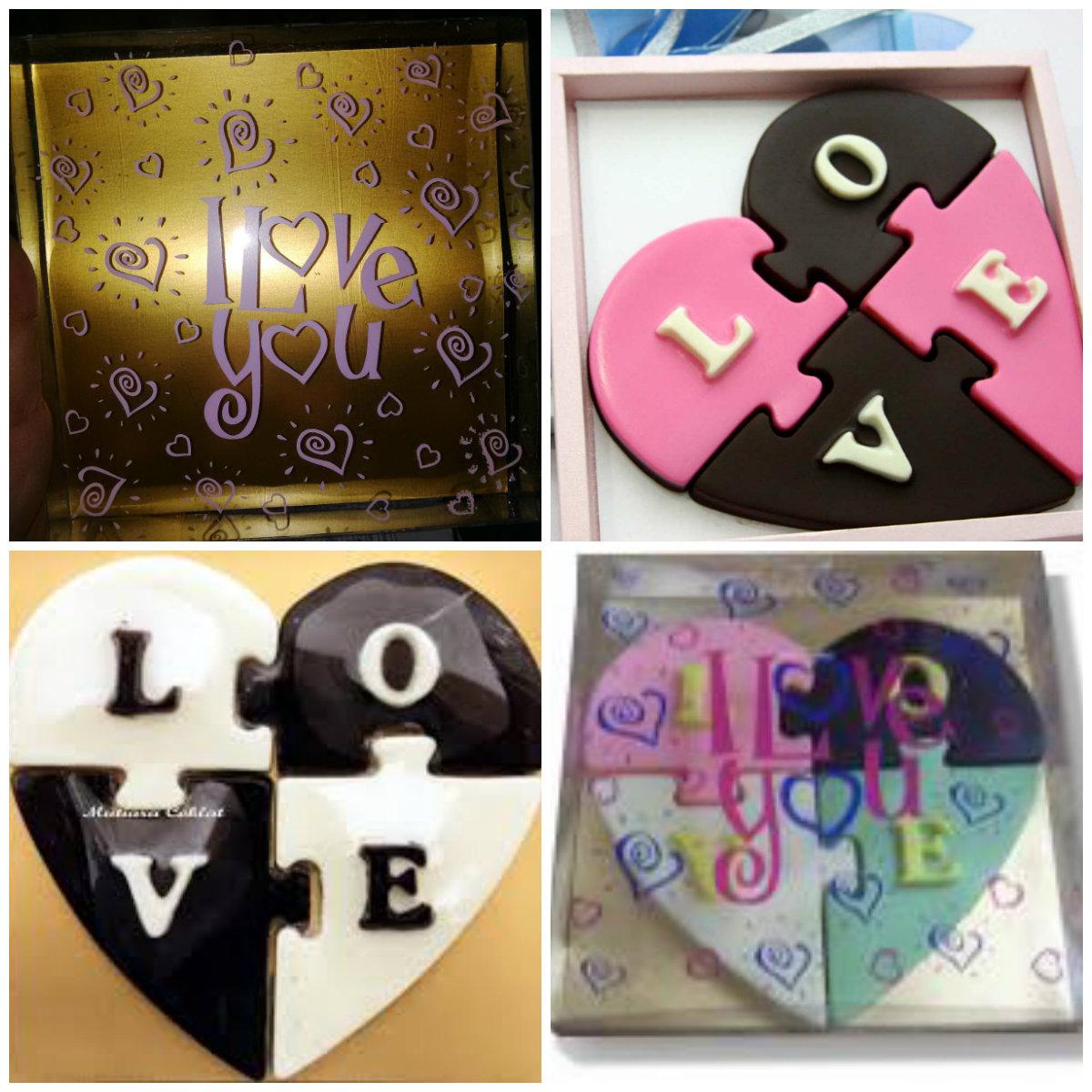 coklat valentine puzzle / hadiah ultah / hadiah anniv - Blanja.com