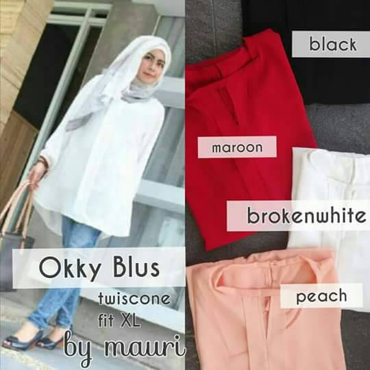 supplier hijab murah : okky blus by mauri