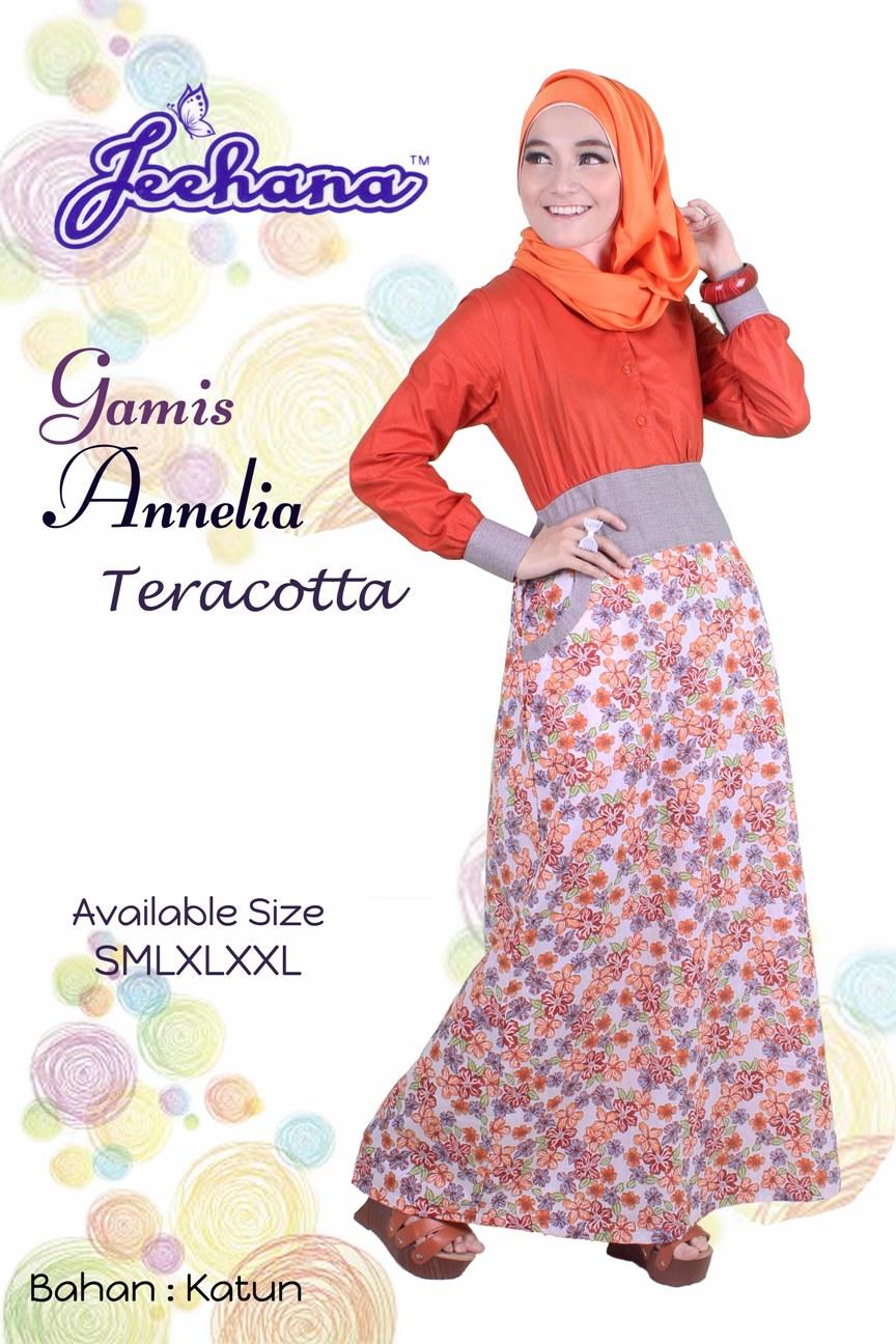 Jeehana Annelia - Gamis Katun - Jual Hijab & Baju Muslim Remaja Online