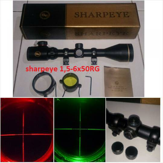 teleskop senapan angin sharp eye 1.5.6x50 Org