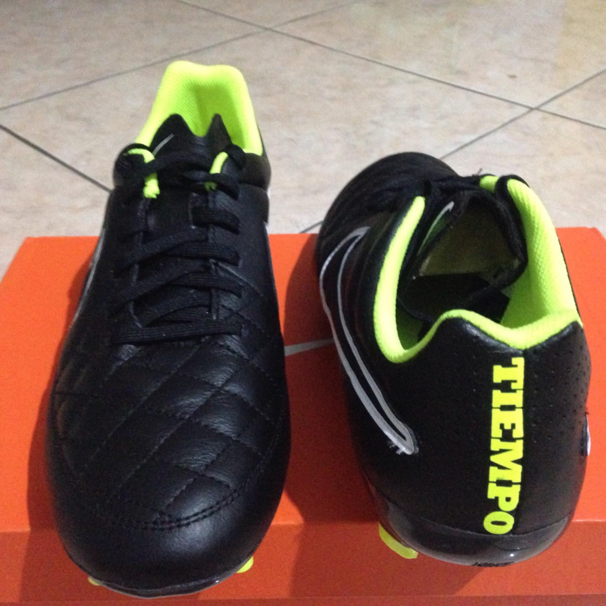 Jual Sepatu Bola Nike Genio Welcome To Tiempox Ii Leather Ic Shoes Hitam Sepak Soccer Tiempo