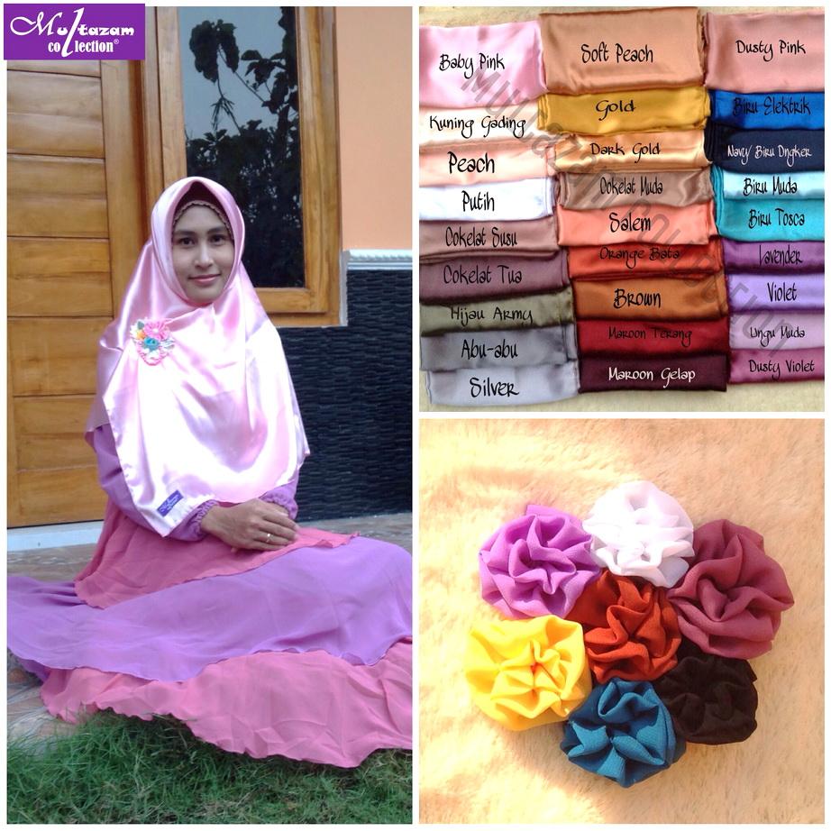Segiempat Satin / Square Satin / Kerudung / Jilbab / Hijab