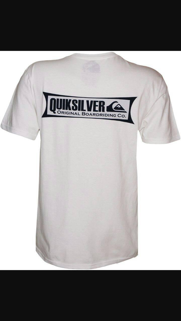 tshirt/t shirt/kaos quiksilver (white)