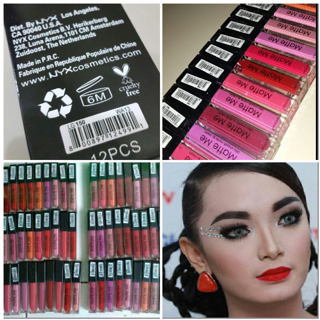 Jual Nyx Matte Me Lip Cream Lipgloss Creamy Replica Sleek Azzahrashop Tokopedia