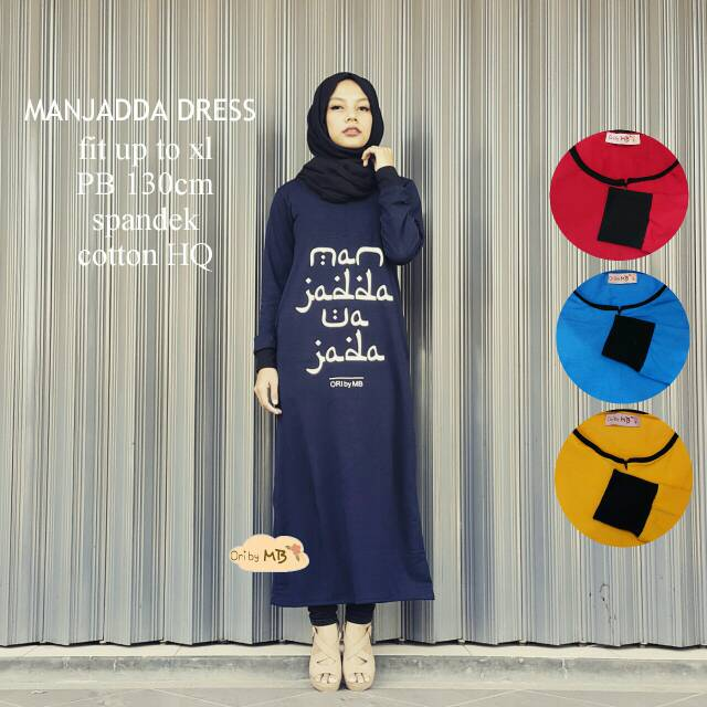 supplier baju hijab : manjadda dress ori by mb / abaya murah