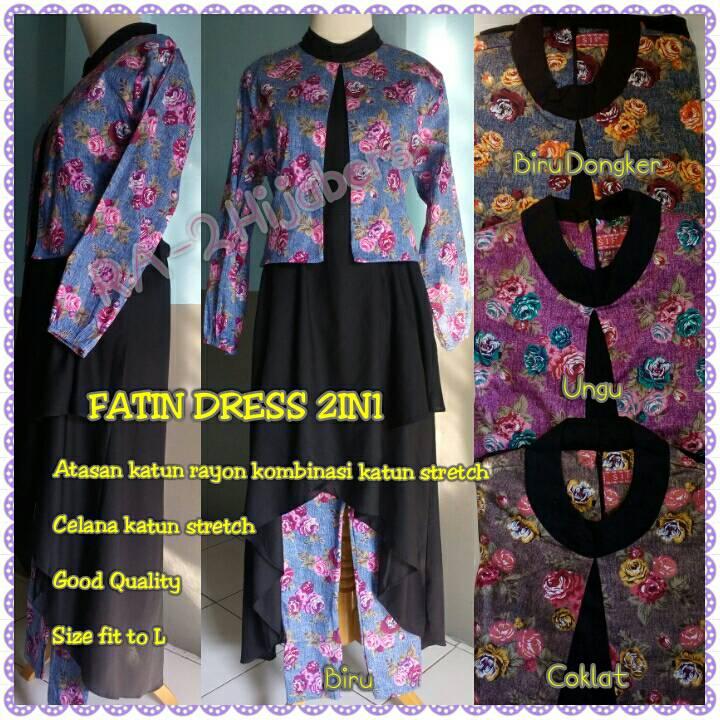 Baju Fatin Baju Blus Batik Fatin Kombinasi Warna Biru