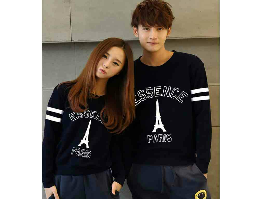 Jakarta Couple Sweater Couple Paris Hitam Logo Gold Daftar .