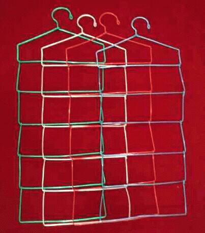 Hanger jilbab / rak gantung hijab / gantungan kerudung warna 6 susun