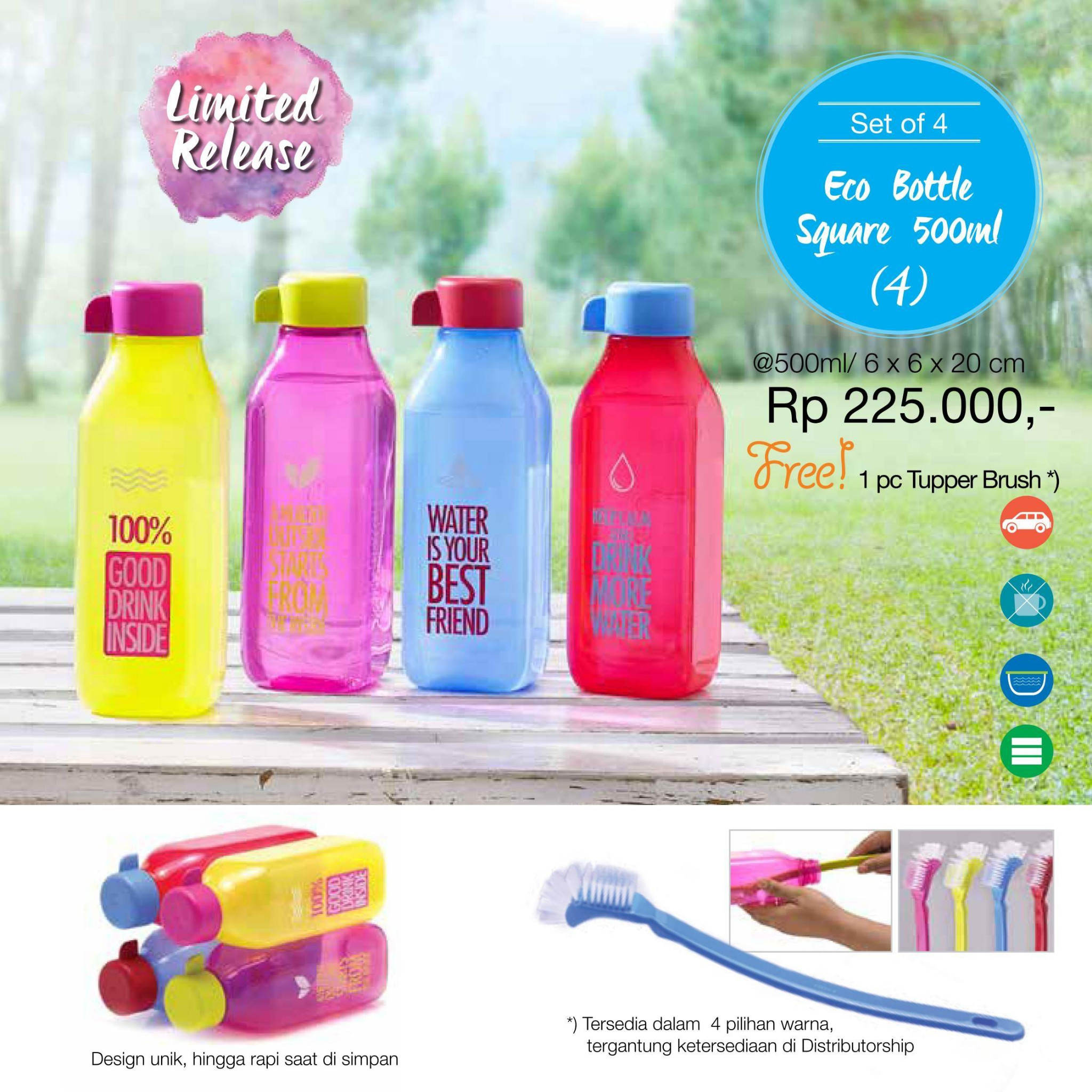 Tupperware Botol Hitam 750ml Daftar Harga Terlengkap Indonesia Eco Man Minum 750 Ml Home Page 2 Bottle Square 500ml