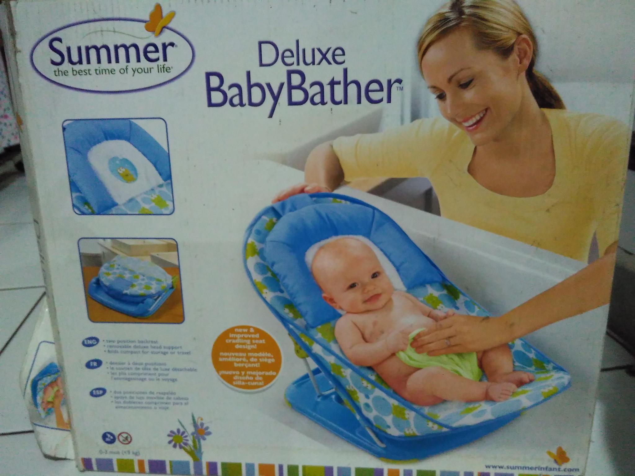 Deluxe baby bather/kursi mandi bayi merk summer