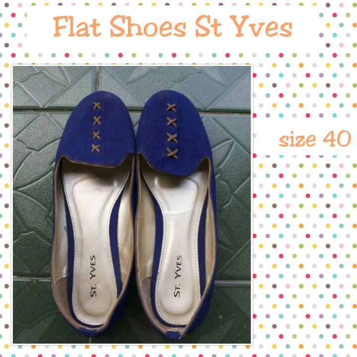 Jual Sepatu Flat Shoes St Yves preloved second bekas - Fashion ... fdef0b1503