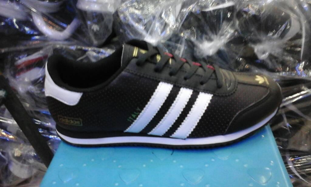 Jual sepatu adidas vespa hitam tinggi lis warna cek harga di ... a920a12e0b