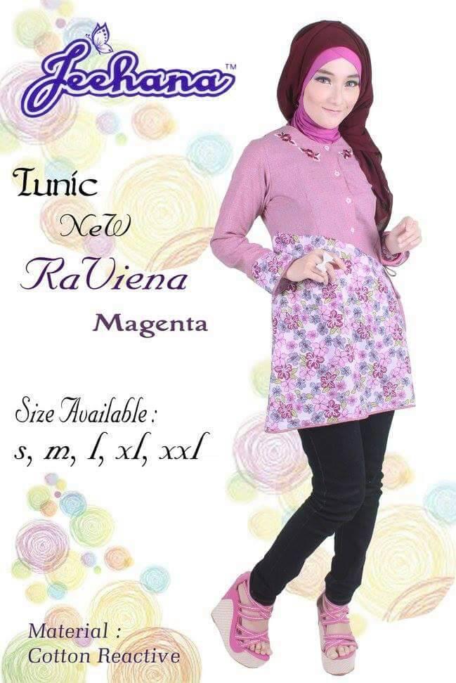 Tunic New Raviena Baju kerja keren, Hijab style, Baju muslim cantik