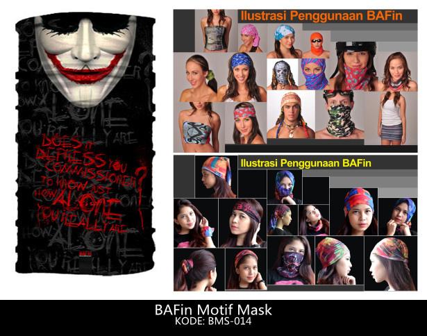 Harga BAFin Joker Mask Topeng Wajah BMS-014 (Buff Baff Bandana Multifungsi)