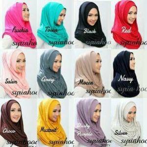 Hijab syari Jilbab Long Nabila Versi Premium ( Hoodie Mecca )