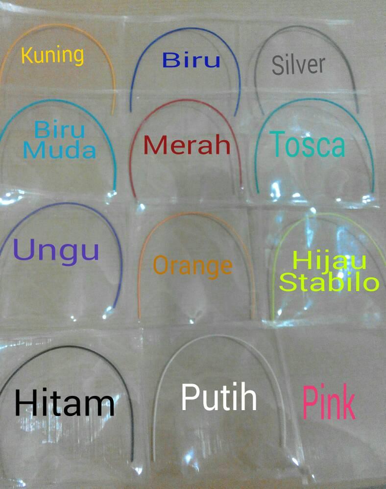 Jual Kawat Warna PLASTIK untuk Behel RUBBER WIRE