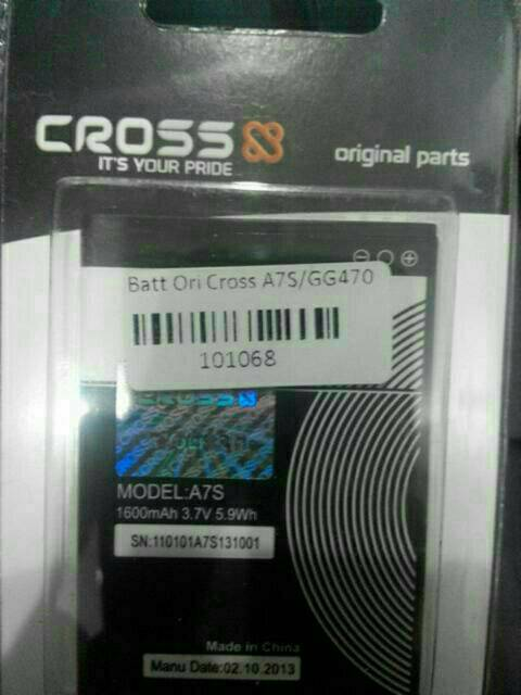 batray hp cross/evercoss A7s ori