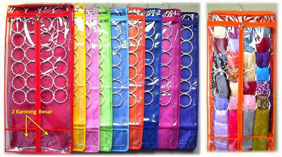 Gantungan Jilbab Ring Polos/Hijab Organizer