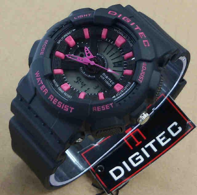 Digitec Jam Tangan Sport Dual Time Wanita Rubber Strap Dgs E073 Source · Jual DIGITEC LADIES