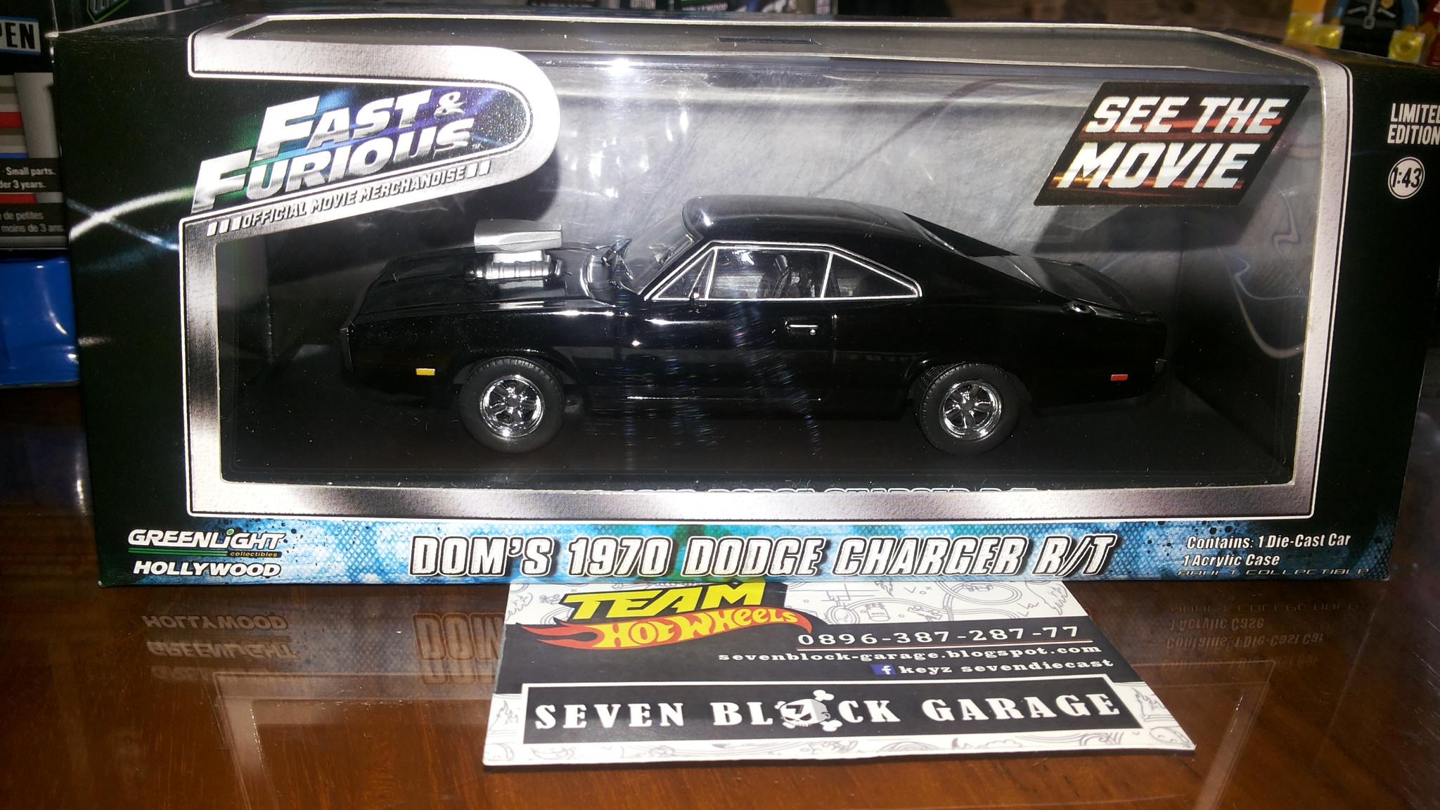 Jual Greenlight Dodg Charger Fast Furious Doms Car Seven Block