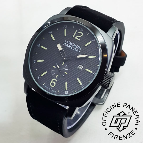 Luminor Panerai Jaring 02 Leather Black