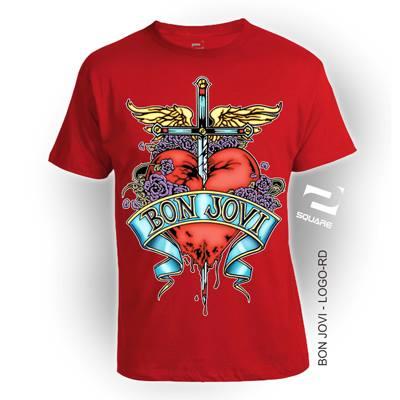 Kaos Konser Distro 3D Bon Jovi Logo ukuran DEWASA BIG SIZE by Square