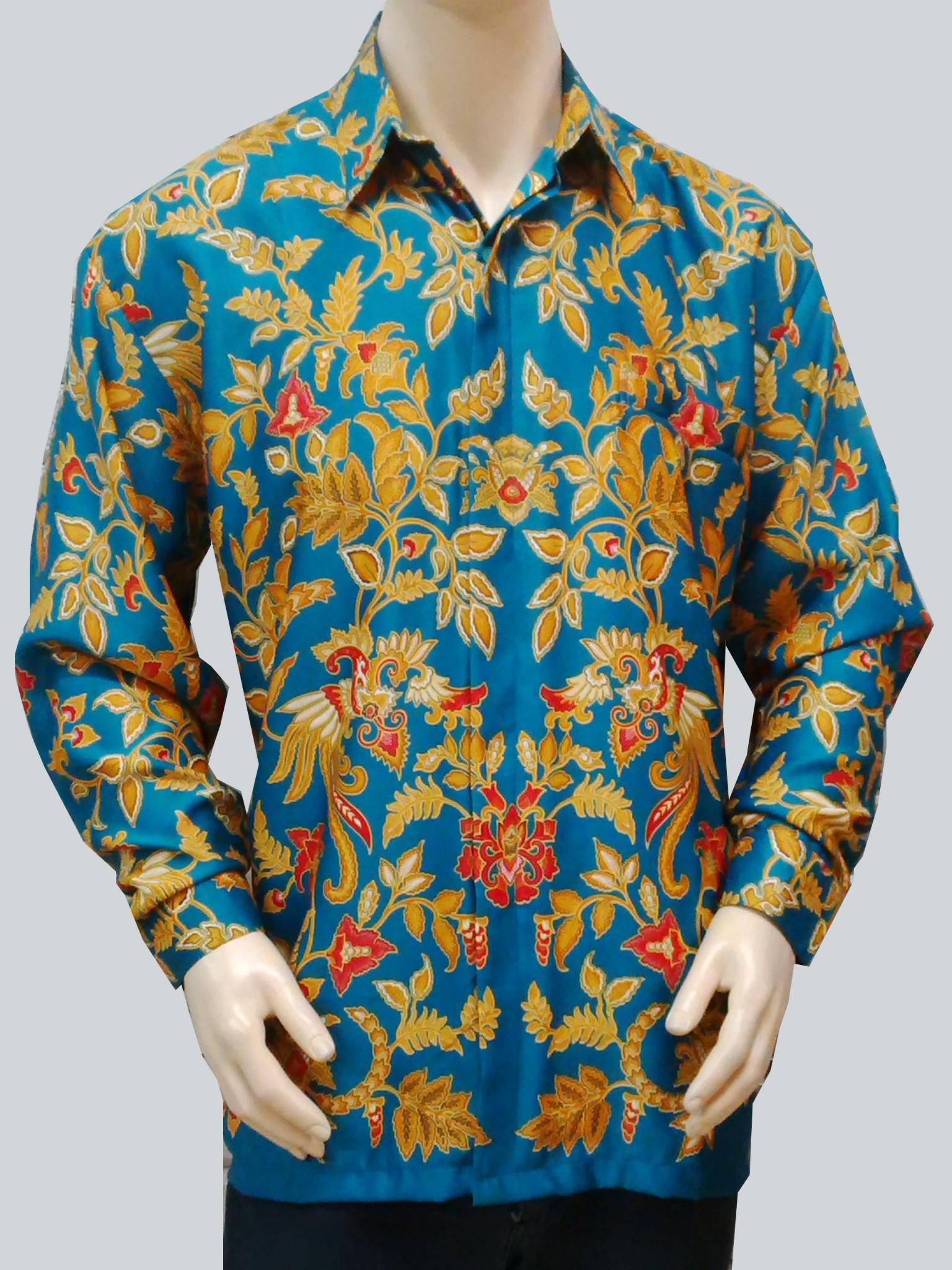Harga Kemeja Batik Solo . Hem Lengan Panjang Semi Sutra .Baju Batik ...