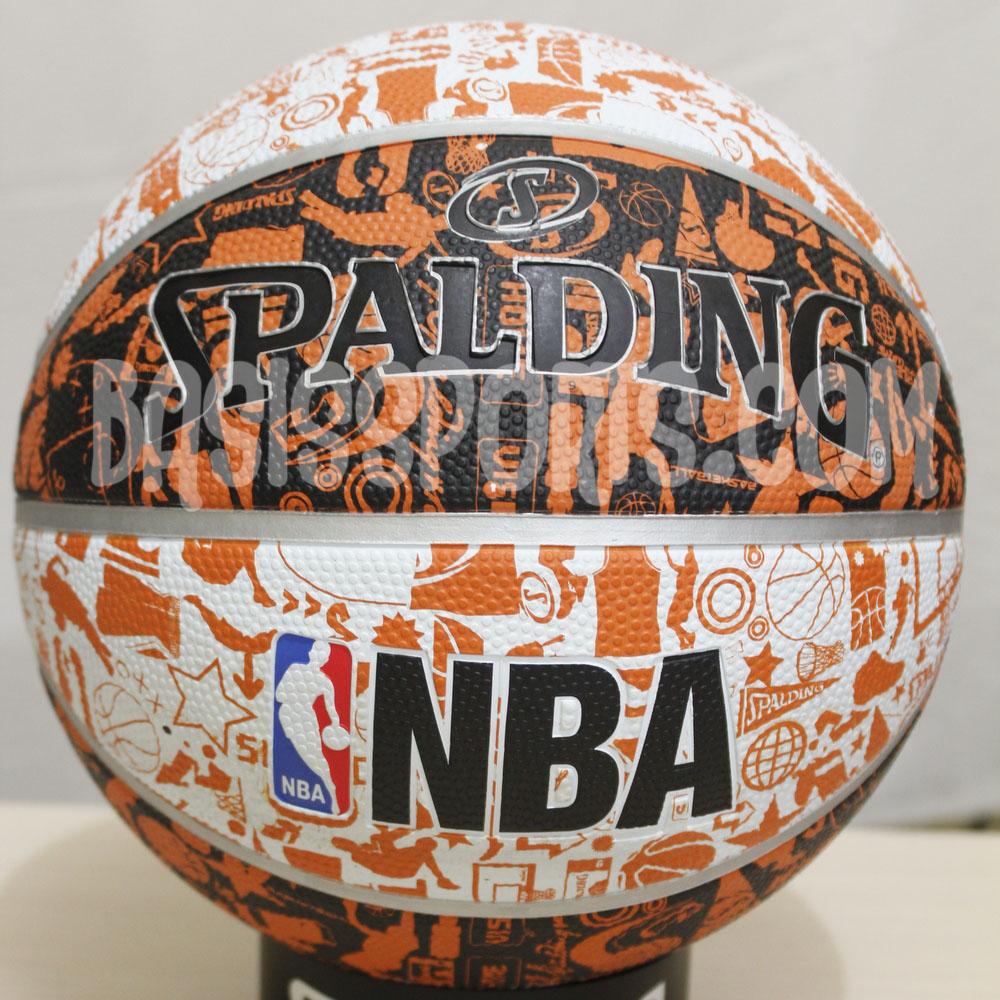 Jual SPALDING NBA GRAFFITI BASKETBALL 2015 ( Orange