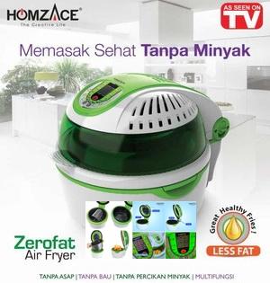 Zerofat Air Fryer - Panci Listrik & Oven Oil Cooking Free by HomzAce