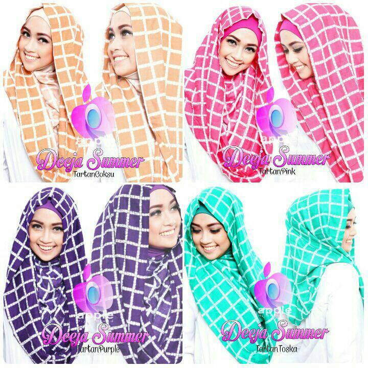 Hijab Deeja Summer Tartan by Apple Hijb Brand
