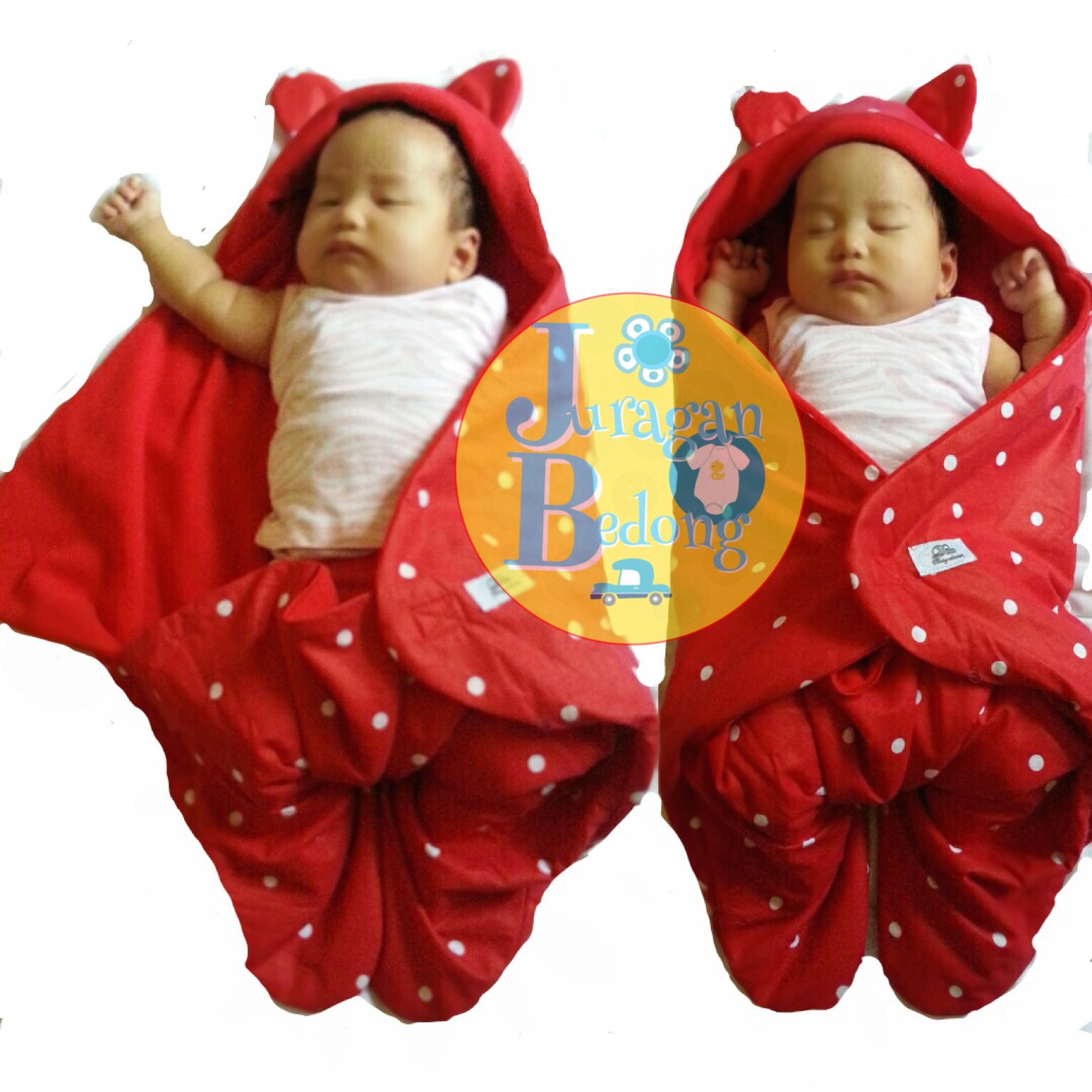 harga selimut bayi baby blanket red polkadot di jakarta bara
