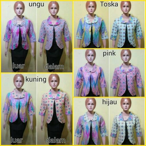 bolero batik/blazer batik/blazer wanita
