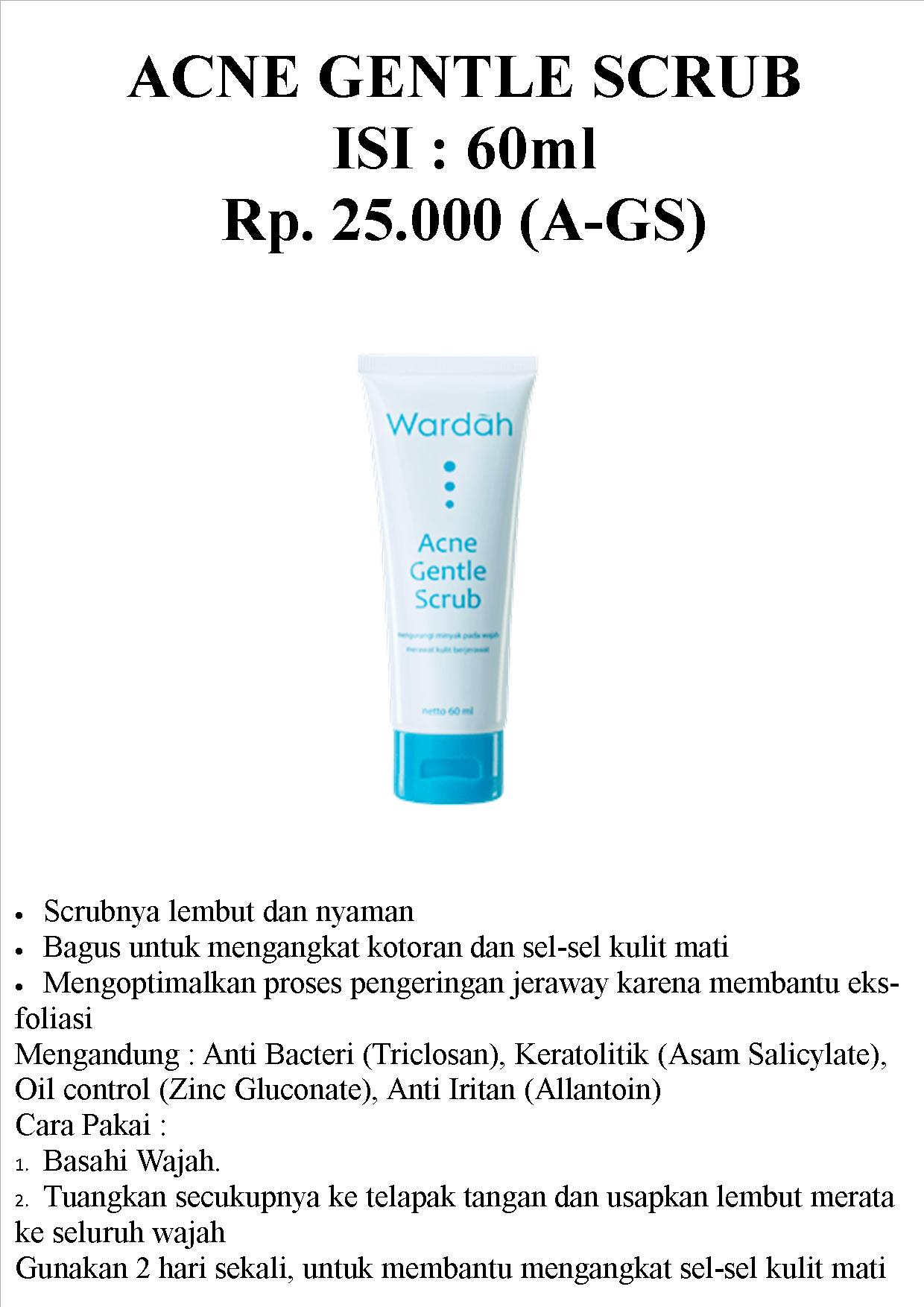 Jual Wardah Acne Gentle Scrrub